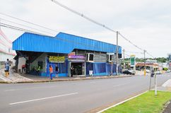 Local commerce called Camelodromo de Campo Grande. Campo Grande, Brazil - February 24, 2018: Local commerce called Camelodromo de Campo Grande. Popular mall Royalty Free Stock Photo