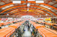 Popular market called Mercadao Municipal. Campo Grande, Brazil - February 24, 2018: Popular market called Mercadao Municipal. A market that has many small stock image