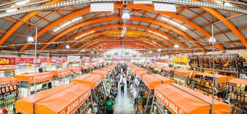 Popular market called Mercadao Municipal. Campo Grande, Brazil - February 24, 2018: Popular market called Mercadao Municipal. A market that has many small stock photo