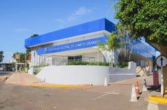 Camara Municipal de Campo Grande. Campo Grande, Brazil - Junho 25, 2018: New blue facade of the front of the Camara Municipal de Campo Grande. Legislative body Royalty Free Stock Images