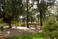 Campo Grande Park, Lisbon, Portugal: the playground for pet dogs Stock Photography