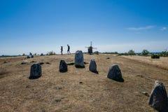 Campo grave nordico di età del bronzo in Svezia Fotografie Stock