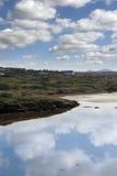 Campo hermoso en Kincasslagh Foto de archivo