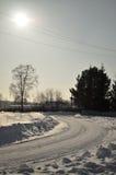 Campo idílico do inverno Imagem de Stock