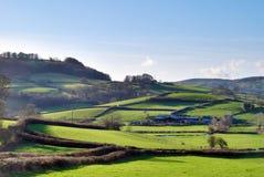 Campo inglés verde enorme Foto de archivo libre de regalías