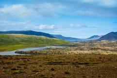Campo islandês Fotografia de Stock