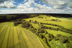 Campo letón, condado de Kandava Fotos de archivo