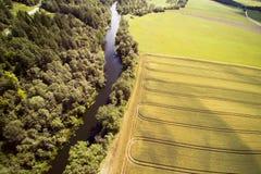 Campo letón, condado de Kandava Foto de archivo