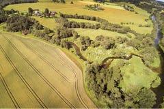 Campo letón, condado de Kandava Foto de archivo libre de regalías