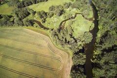Campo letón, condado de Kandava Imagen de archivo libre de regalías