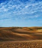 Campo linea collinosa pittoresca Immagine Stock