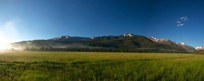 Campo lungo del Wyoming Fotografia Stock