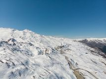 Campo máximo do esqui da coroa fotografia de stock royalty free