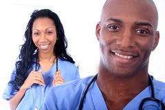 Campo médico do homem e da mulher Fotografia de Stock