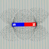 Campo magnético ilustración del vector