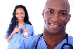Campo medico della donna e dell'uomo Immagini Stock