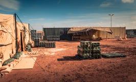 Campo militare marino immagine stock