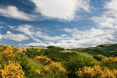 Campo montañoso de le Marche, Italia Foto de archivo