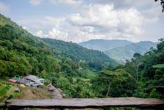 Campo, montanhas, mola foto de stock royalty free