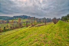 Campo montanhoso do inverno imagens de stock royalty free