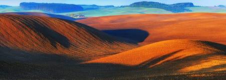 Campo montanhoso Montes da mola imagens de stock royalty free