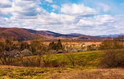 Campo montanhoso na primavera foto de stock royalty free