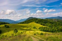 Campo montanhoso no outono adiantado foto de stock royalty free