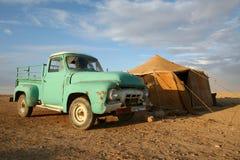 Campo nómada en Siria Foto de archivo libre de regalías