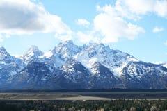 Campo natural magnífico del moutain de Teton Imagen de archivo