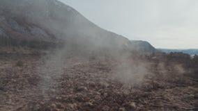 Campo nebbioso in Norvegia stock footage