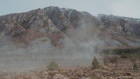 Campo nebbioso in Norvegia video d archivio