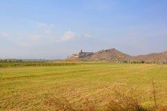 Campo nel villaggio di Lusarat l'armenia Fotografia Stock Libera da Diritti