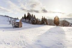 Campo nevado Imagens de Stock