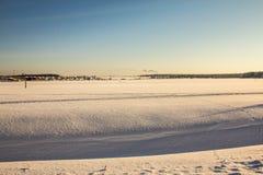 Campo nevado Fotografía de archivo libre de regalías