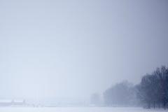 Campo nevado do inverno Imagem de Stock Royalty Free