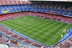 Campo Nou del estadio Imágenes de archivo libres de regalías