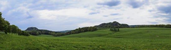 Campo panorámico del balanceo Imagen de archivo
