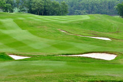Campo parcial del golf Fotografía de archivo