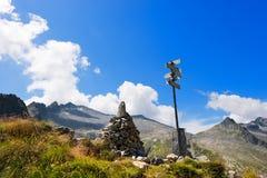 Campo Pas en Re Di Castello Peak Royalty-vrije Stock Afbeeldingen