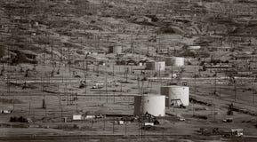 Campo petrolífero Fotografía de archivo