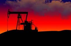 Campo petrolífero Fotografia de Stock