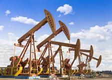 Campo petrolífero Imagens de Stock