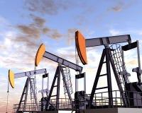 Campo petrolífero Foto de Stock Royalty Free