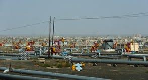 Campo petrolífero Fotografía de archivo libre de regalías