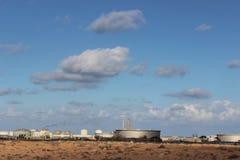 Campo petrolífero libio-sidra Foto de archivo