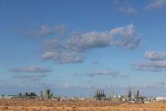 Campo petrolífero libio-sidra Foto de archivo libre de regalías