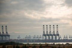 Campo petrolífero no oceano Fotografia de Stock Royalty Free