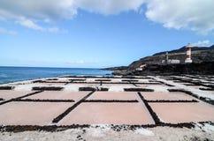 Campo plano de la sal Imagen de archivo