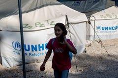 Campo profughi di Lagadikia, Grecia Immagini Stock Libere da Diritti