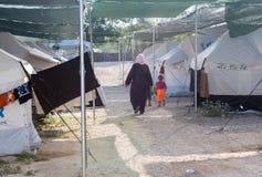 Campo profughi di Lagadikia, Grecia Fotografia Stock Libera da Diritti